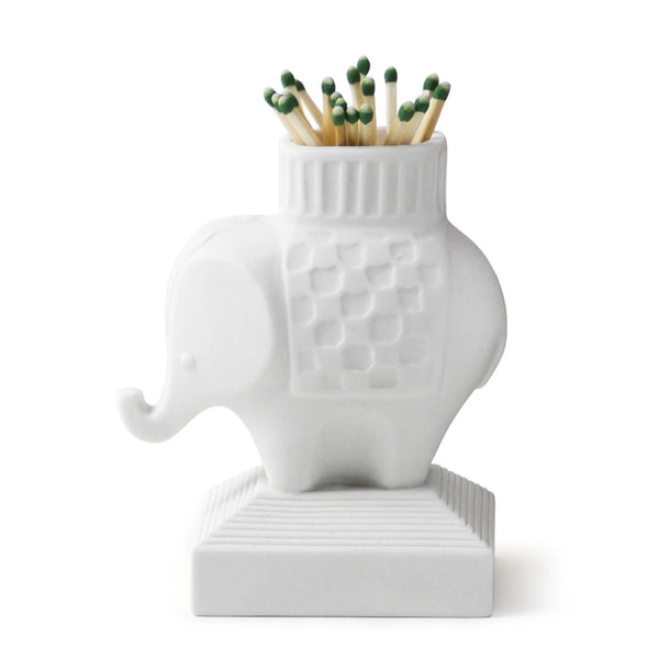 Elephant Match Strike in White Porcelain from Jonathan Adler