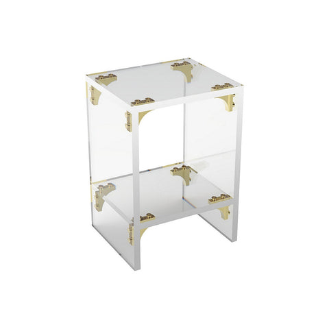 Parisienne Acrylic Side Table with Shelf