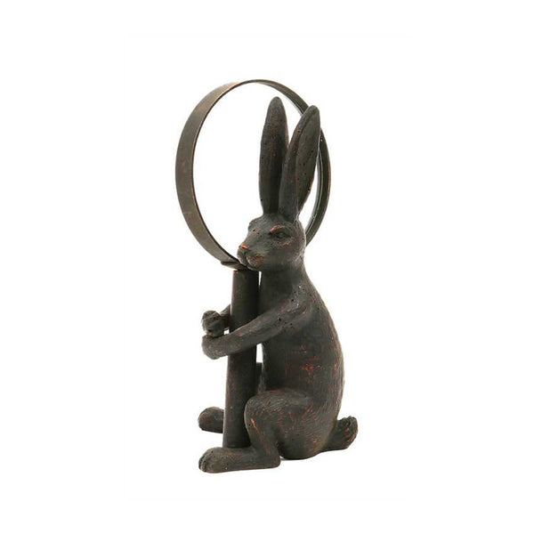 Pewter Magnifying Glass with Rabbit Holder