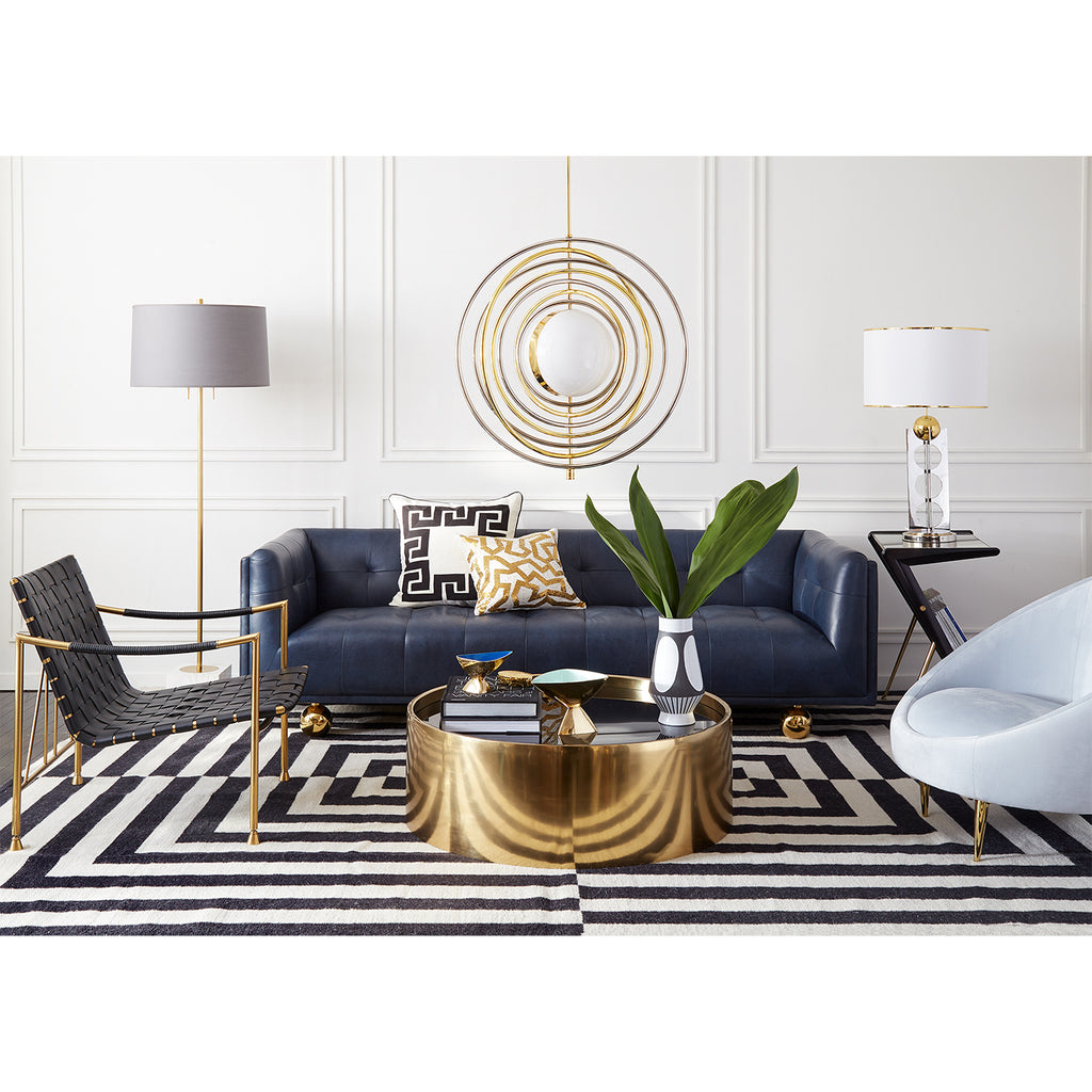 Black/White Canaan Reversible Peruvian Flat Weave Rug by Jonathan Adler