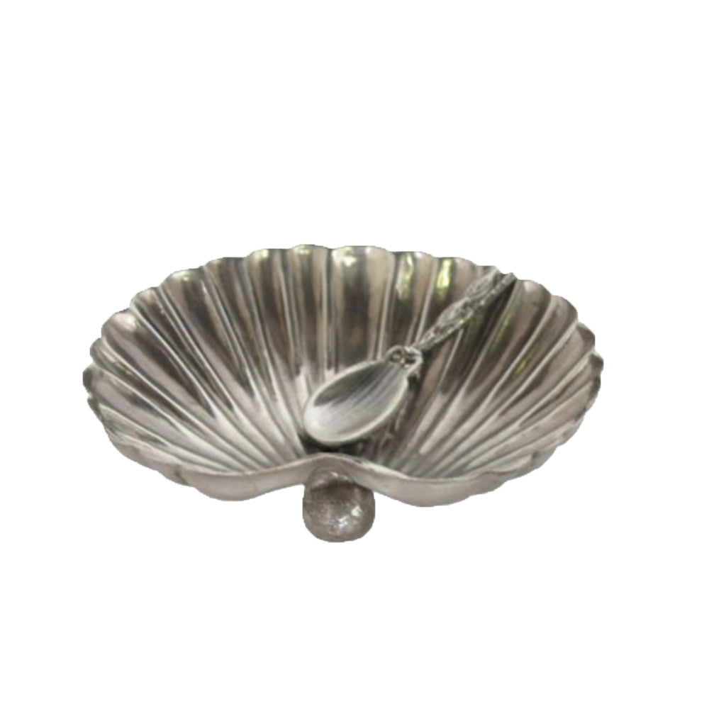 Silver Shell & Spoon Set