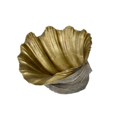 Painted Gold Stone Shell Dish