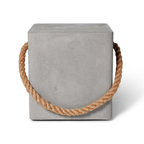 Edge Stool with Rope & Wheels