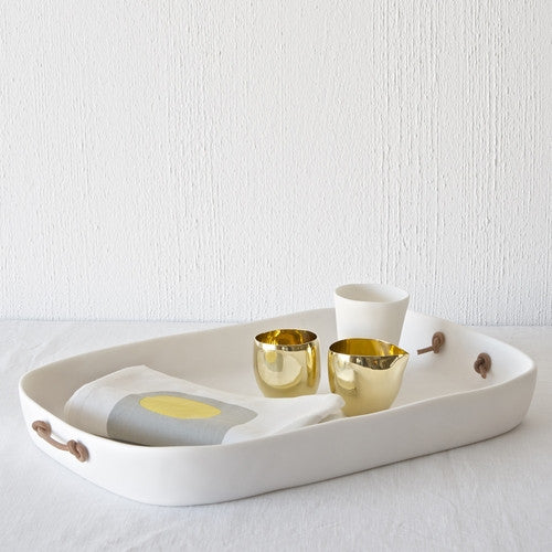 Tina Frey Extra Large Tray with Leather Handles