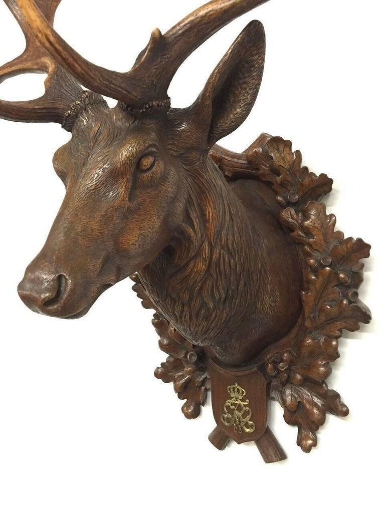 19th Century Hand-Carved Fallow Deer from Kaiser Wilhelm's 1892 Eulenburg Hunt