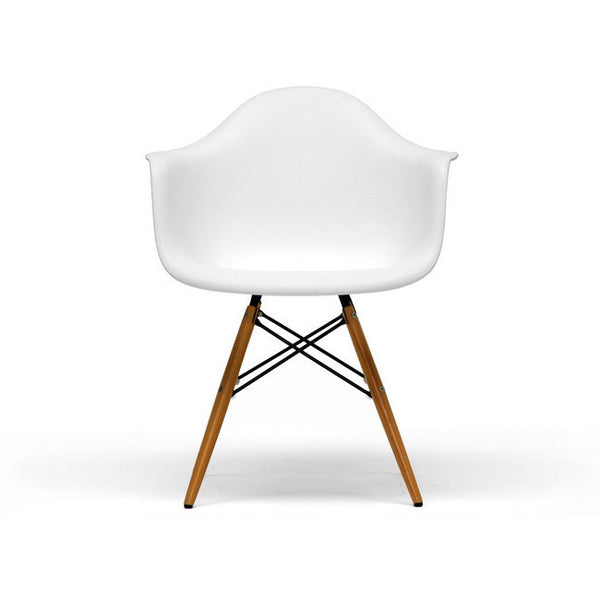 White Pascal White Shell Chairs Set/2
