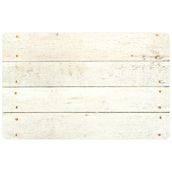 Whitewashed Barnboard Area Mats