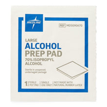 "Load image into Gallery viewer, Prep Pads: 2-Ply Alcohol Prep Pads, Sterile, Bulk, Size M, 1-1/8"" x 2-3/8"""