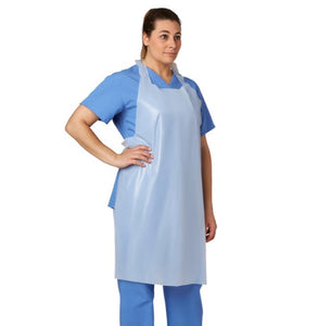 "Apron, Protective: Disposable Polyethylene Apron, Lightweight, 28"" x 46"""