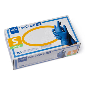 Gloves, Exam: SensiCare Ice Powder-Free Nitrile Exam Gloves with SmartGuard Film, Size L