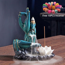 Load image into Gallery viewer, Divine Waterfall Tower Burner Incense Stick With 10Cones Free