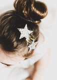 Sky blue star hairclips