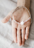 White star beaded bracelet