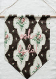 Antique fabric banner (3)