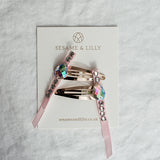 Moonstone ribbon clips