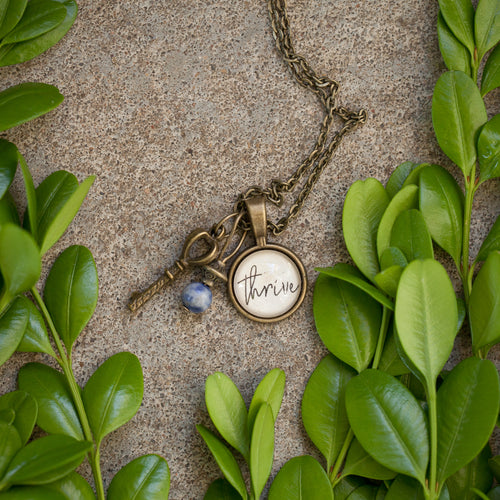 Thrive pendant necklace  (charms and beads included)