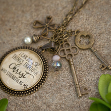 I can do all things through Christ who Strengthens Me pendant necklace (charms and beads included)
