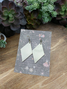 Champagne Diamond Leather Earrings