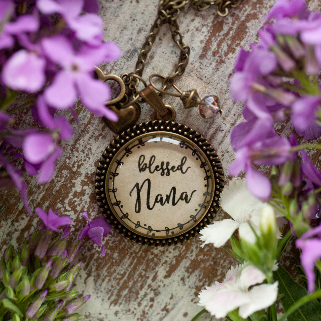 Blessed Nana necklace (charms and beads included)