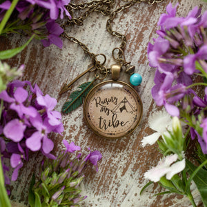 Raising my Tribe necklace (charms and beads included)