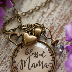 Blessed Mama necklace (charms and beads included)