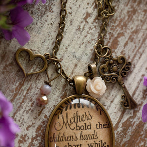 Mother's Hold Their Children's Hands Necklace (charms and beads included)
