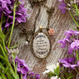 A woman who fears the Lord will be praised. (charms and beads included)