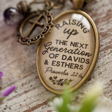 Raising up the next generation of Davids and Esthers Necklace (Proverbs 22:6) (charms and beads included)