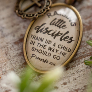 Raising little disciples, train up a child in the way he should go (charms and beads included)
