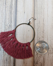 Wild Rose Macrame Earrings