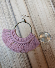 Dusty Pink Macrame Earrings
