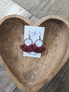 Small Wild Rose  Earrings