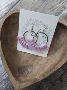 Dusty Pink Hoop Earrings