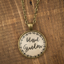 """blessed Grandma"" necklace"
