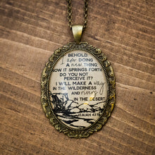 """Behold I am doing a new thing"" necklace"