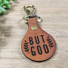 Leather Keychain -But God