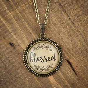 """blessed"" necklace"
