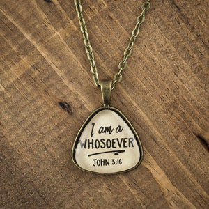 """I am a whosoever"" necklace"