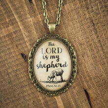 """The Lord is my shepherd"" necklace"