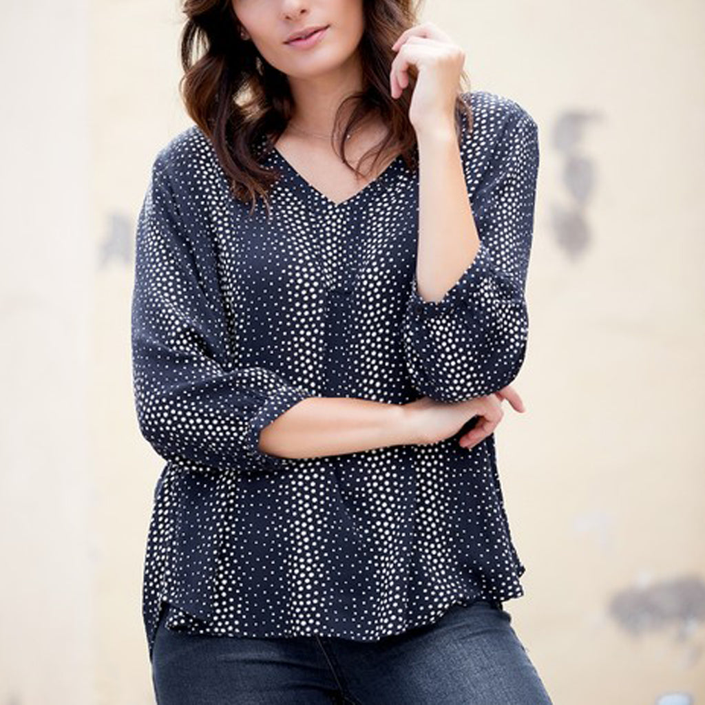 Kitty bluse · Marine
