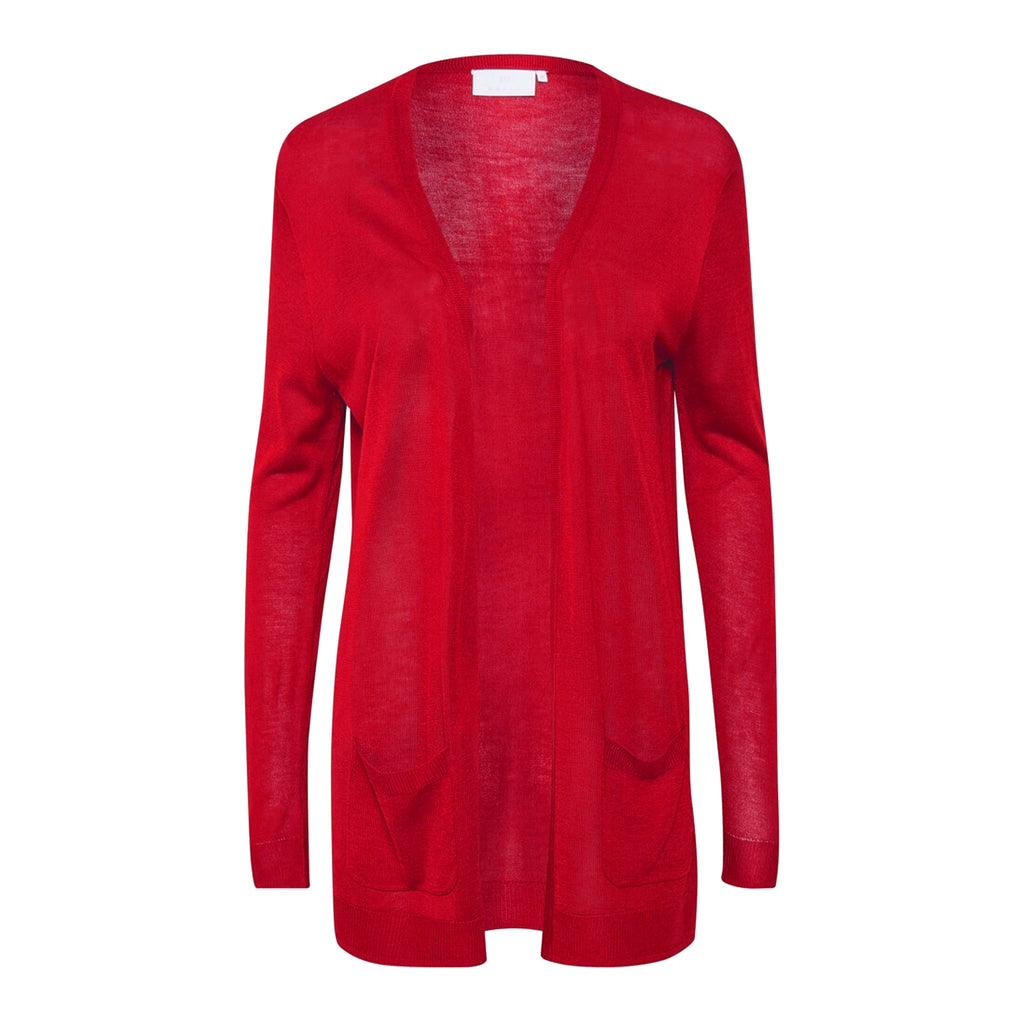 Sandra long Cardigan · Red