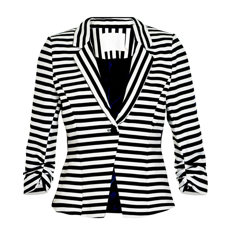 India Stripe Blazer · Navy