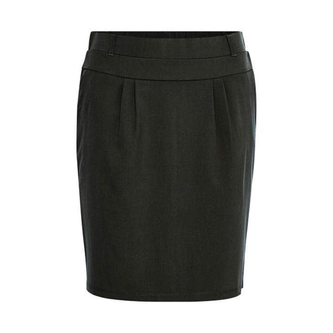 Coated Jillian Skirt · Black