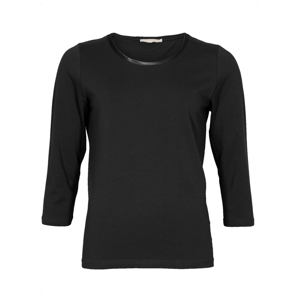 Satino bluse · Black