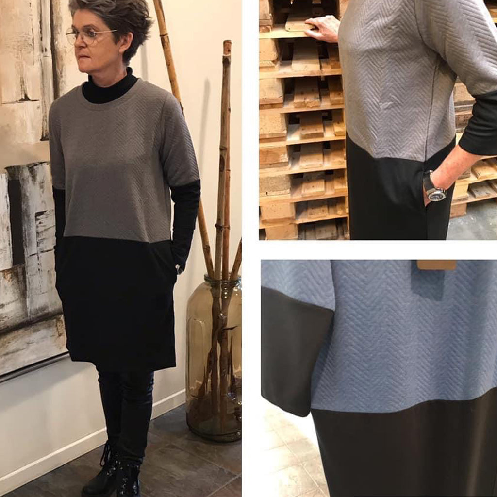 Judy kjole · Grey/Black