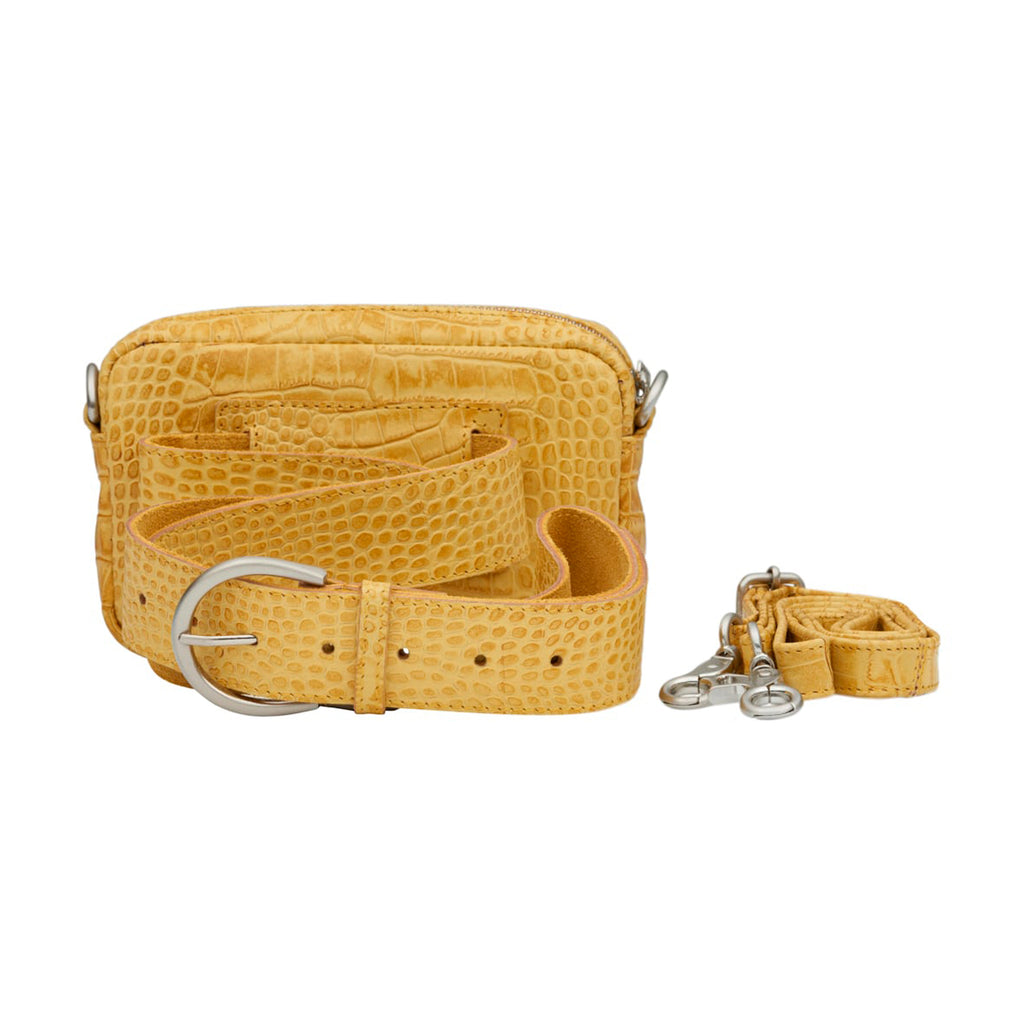 Anna beltbag · yellow croco