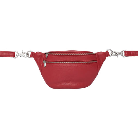 Astrid mini bumbag · Red