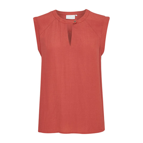 Polly bluse · Burnt Orange