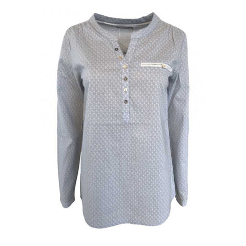 Rickie bluse · Light Blue/Chalk