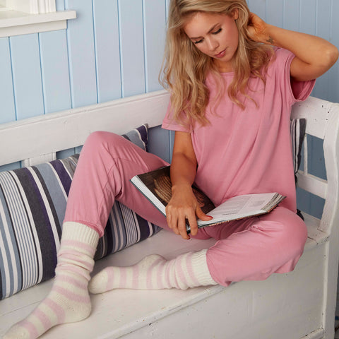 Cozy ME TIME natbukser · Rose